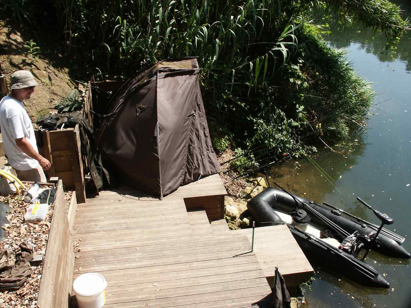 fishing point with bivvy
